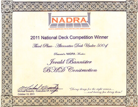 nadra deck award